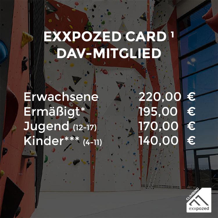 eXXpozed Card 3-Monatskarte